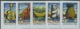 "AUS SG2833-7 ""Big Things"" Roadside Advertising self-adhesive set of 5 from booklet (exSB243)"
